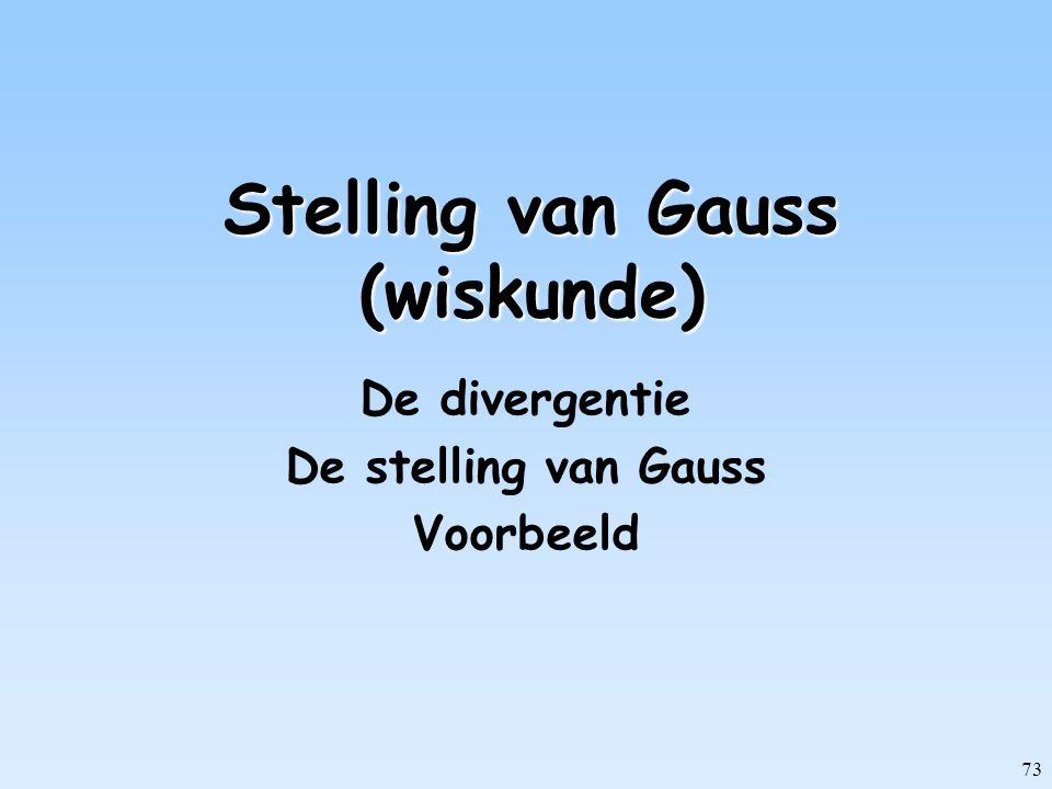 Stelling van Gauss (wiskunde)