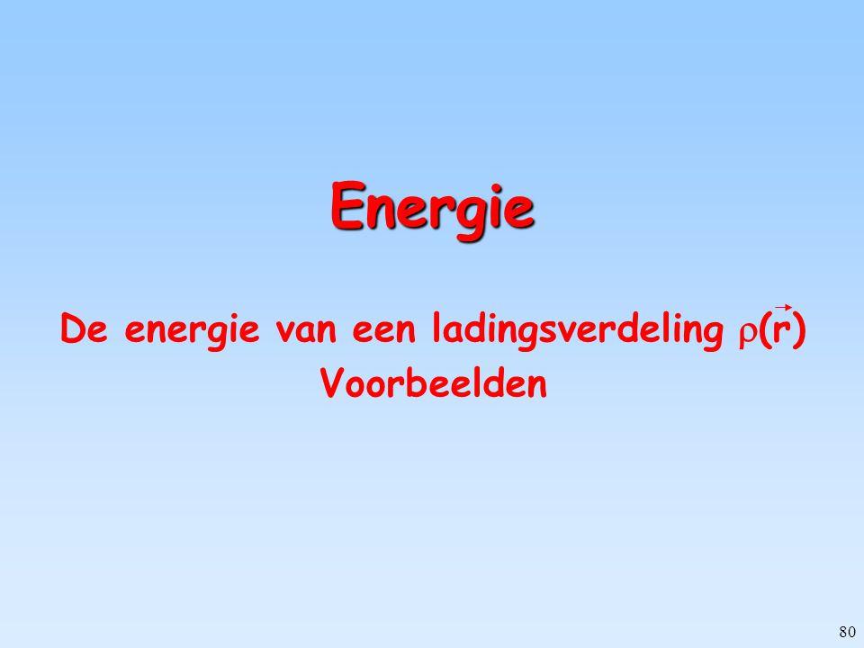 De energie van een ladingsverdeling (r) Voorbeelden