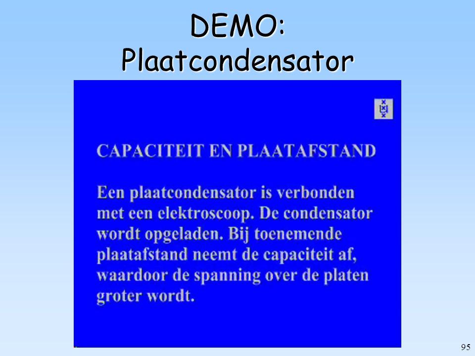 DEMO: Plaatcondensator
