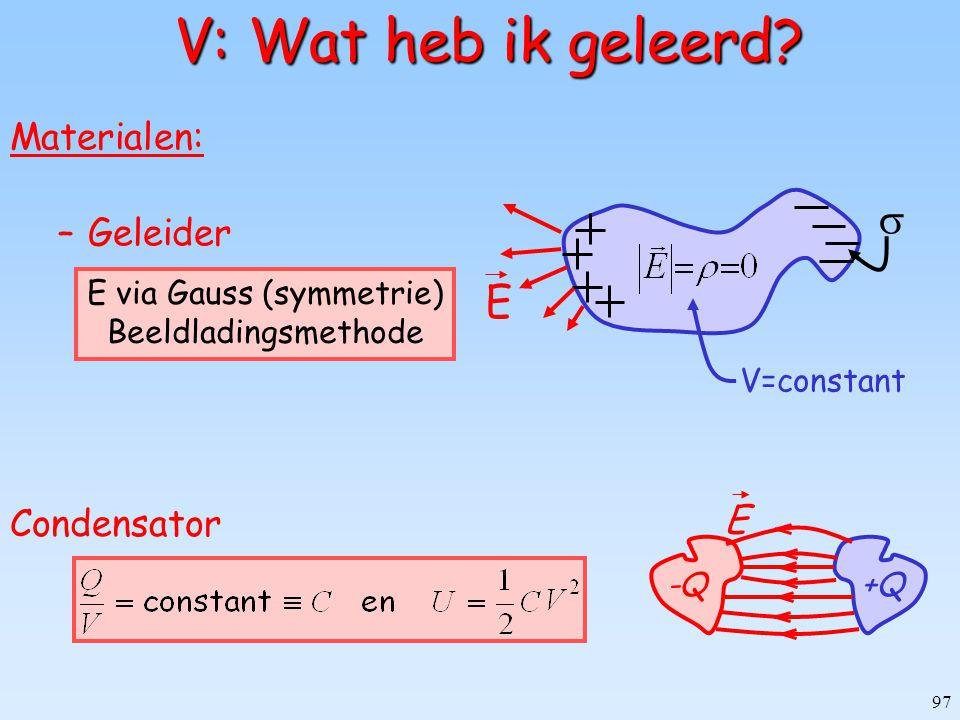E via Gauss (symmetrie)