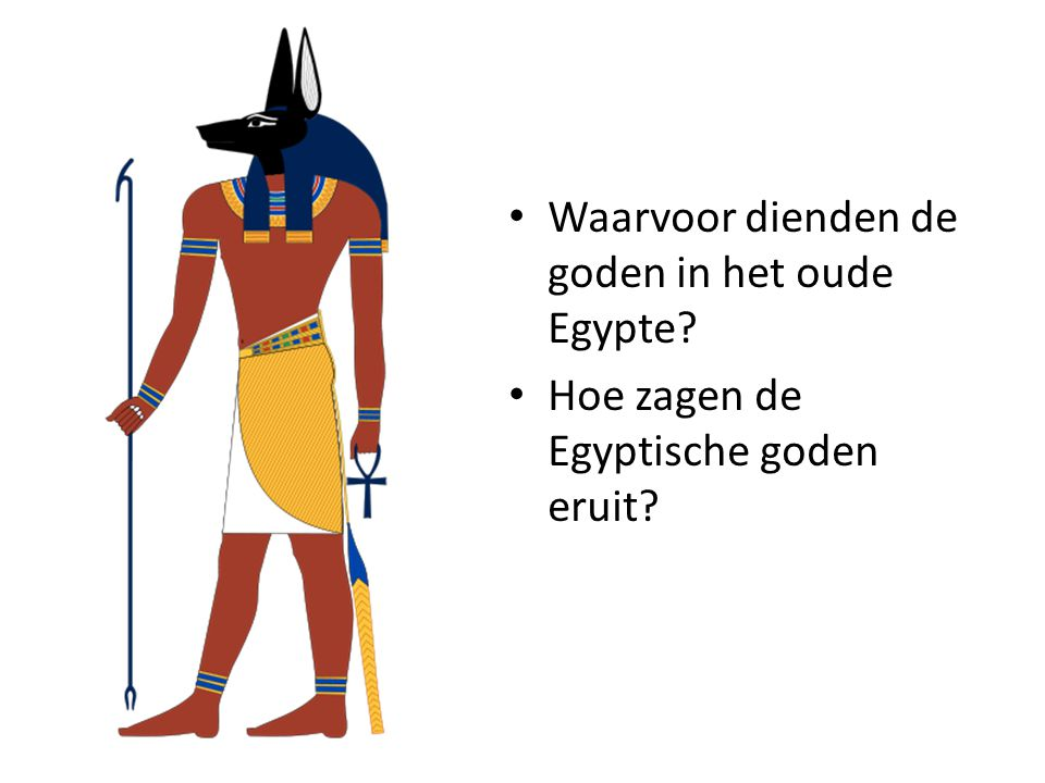 Waarvoor dienden de goden in het oude Egypte