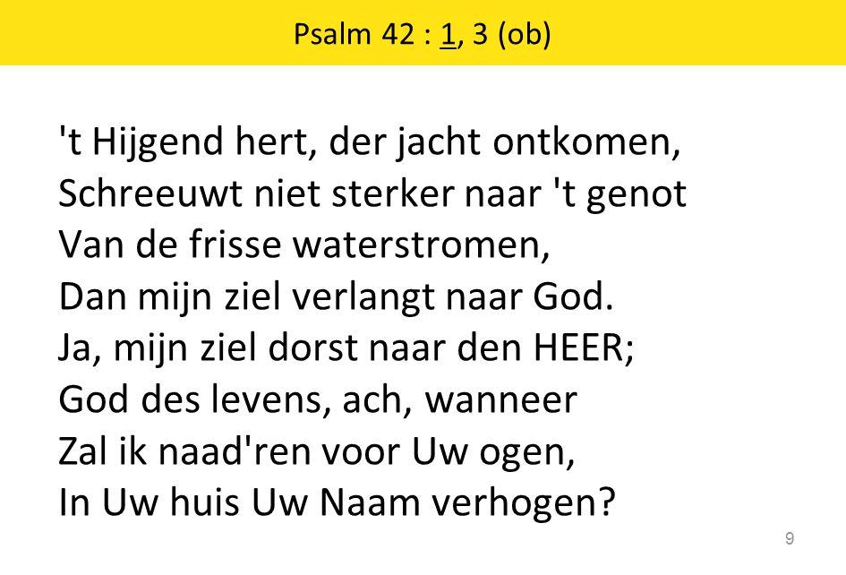 Psalm 42 : 1, 3 (ob)