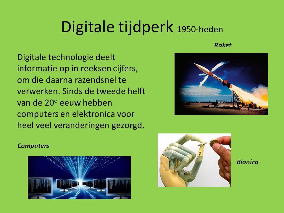 Digitale tijdperk 1950-heden