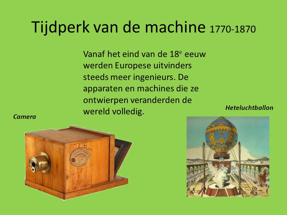 Tijdperk van de machine 1770-1870