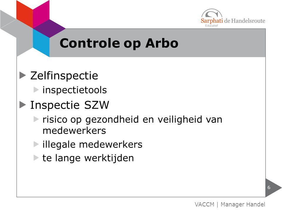 Controle op Arbo Zelfinspectie Inspectie SZW inspectietools