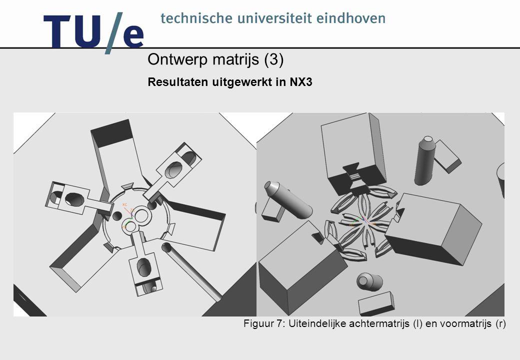 Ontwerp matrijs (3) Resultaten uitgewerkt in NX3