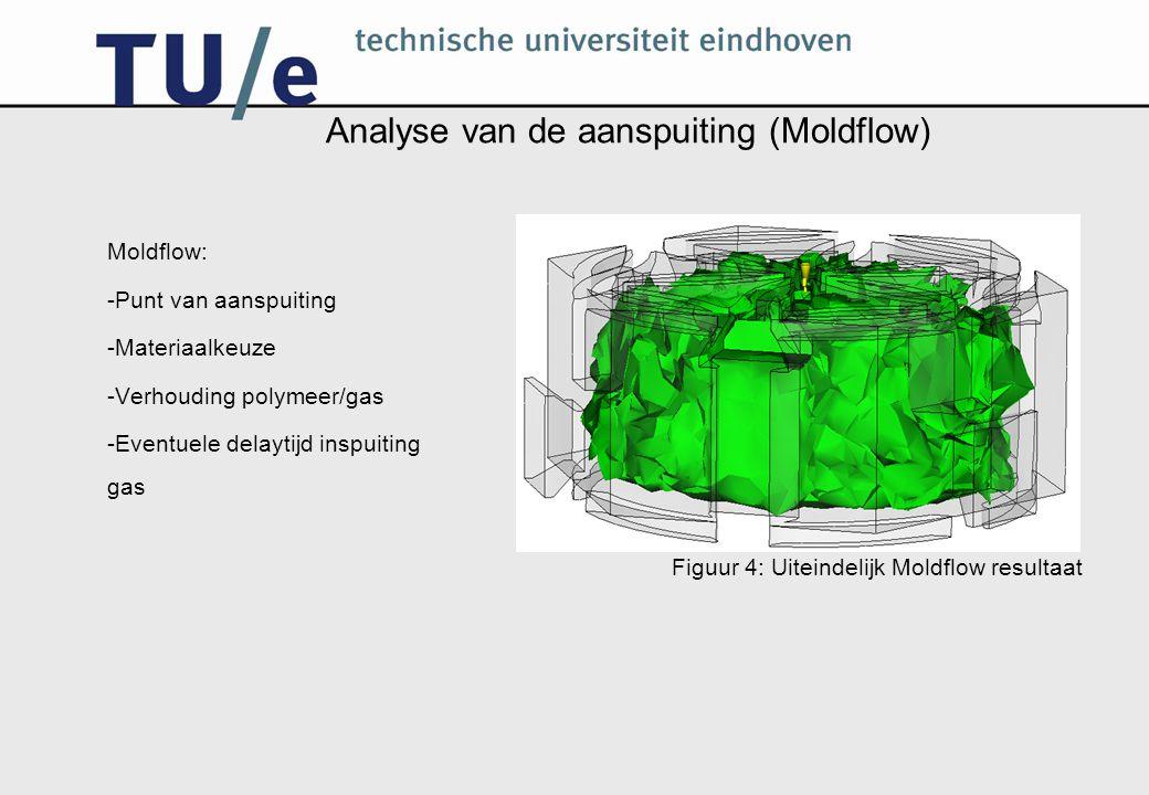 Analyse van de aanspuiting (Moldflow)