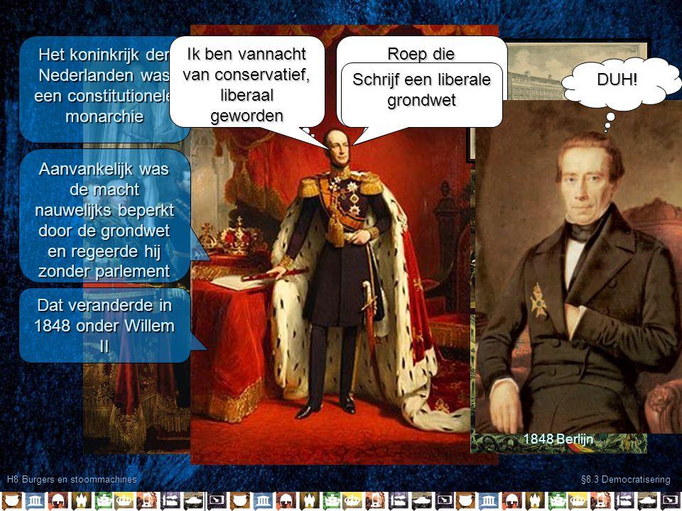 Het koninkrijk der Nederlanden was een constitutionele monarchie