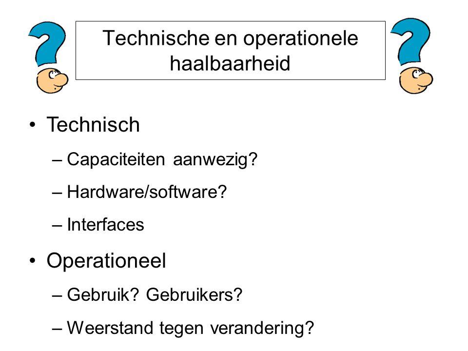Technische en operationele haalbaarheid