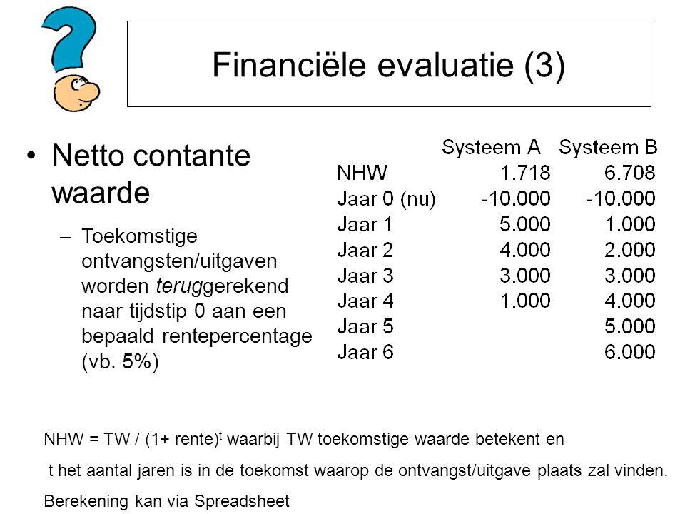 Financiële evaluatie (3)
