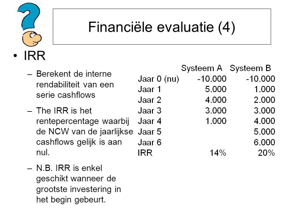 Financiële evaluatie (4)