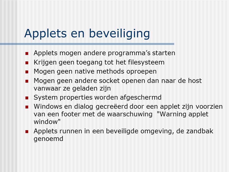Applets en beveiliging