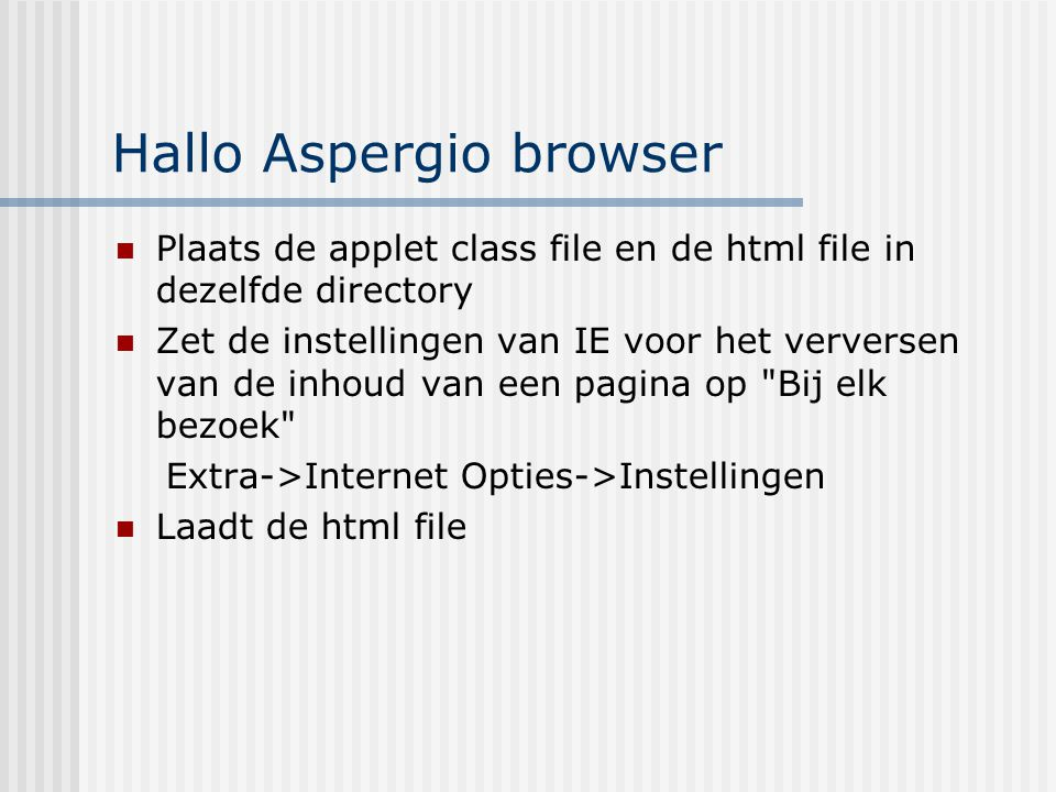 Hallo Aspergio browser