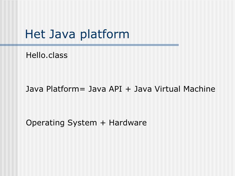 Het Java platform Hello.class