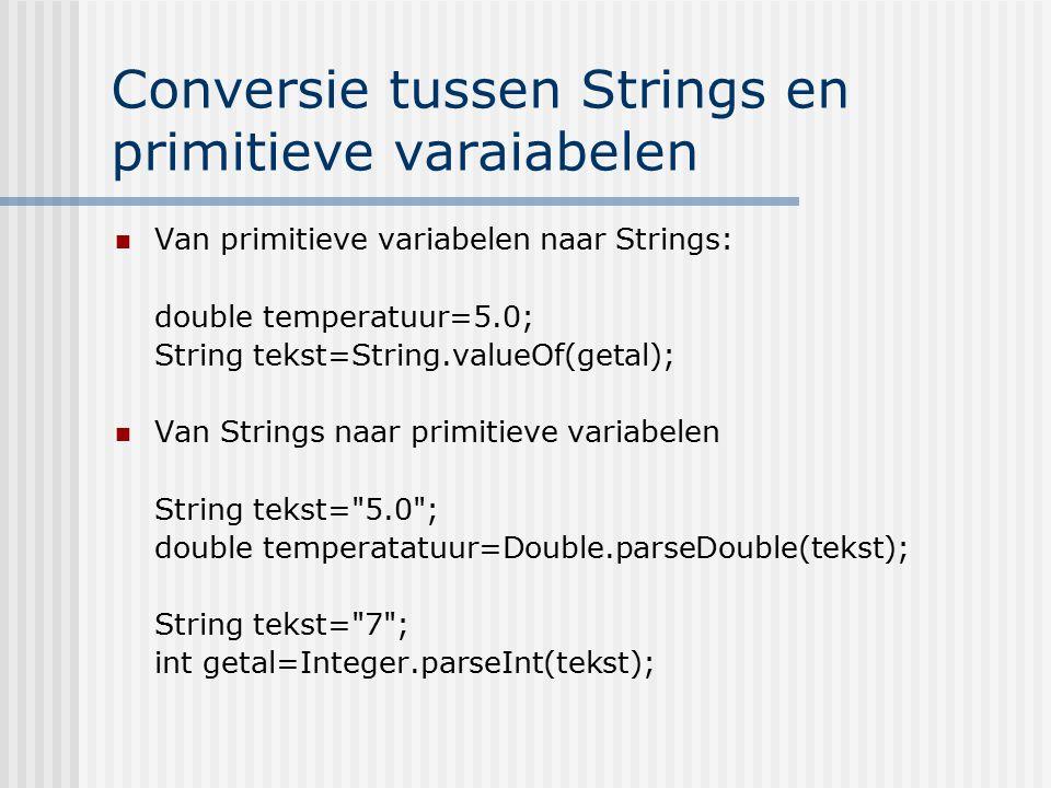Conversie tussen Strings en primitieve varaiabelen