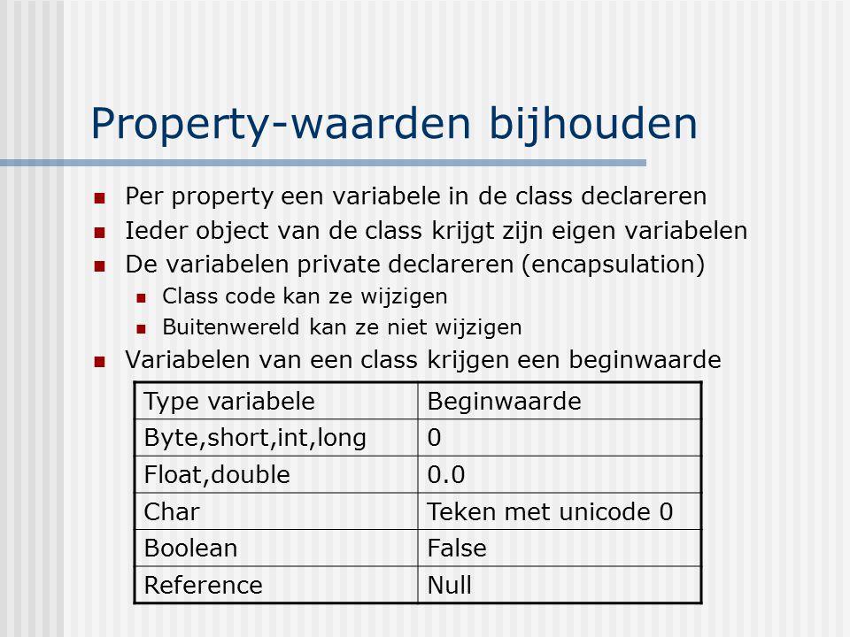 Property-waarden bijhouden
