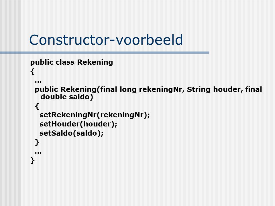 Constructor-voorbeeld