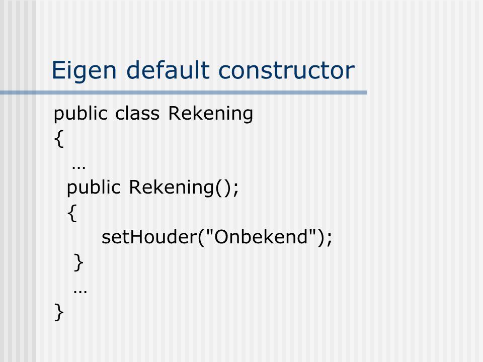 Eigen default constructor