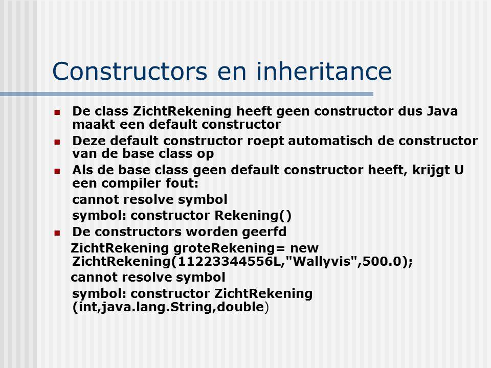 Constructors en inheritance