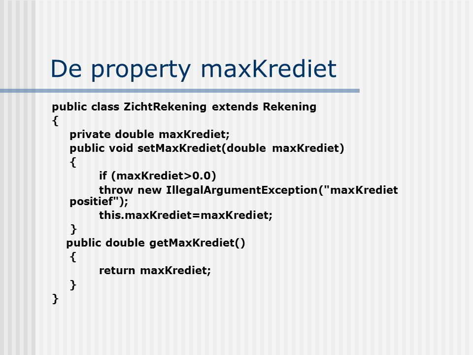 De property maxKrediet