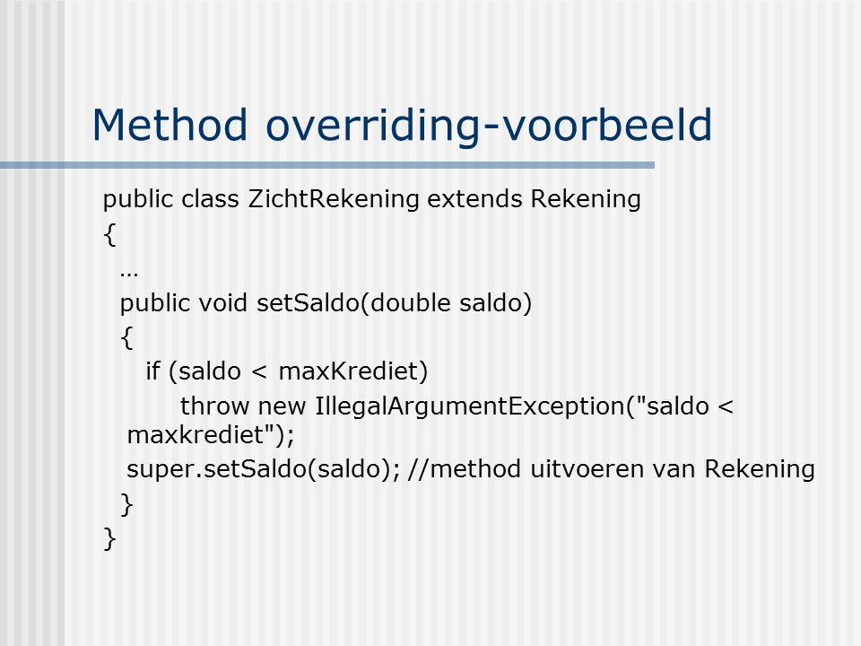 Method overriding-voorbeeld