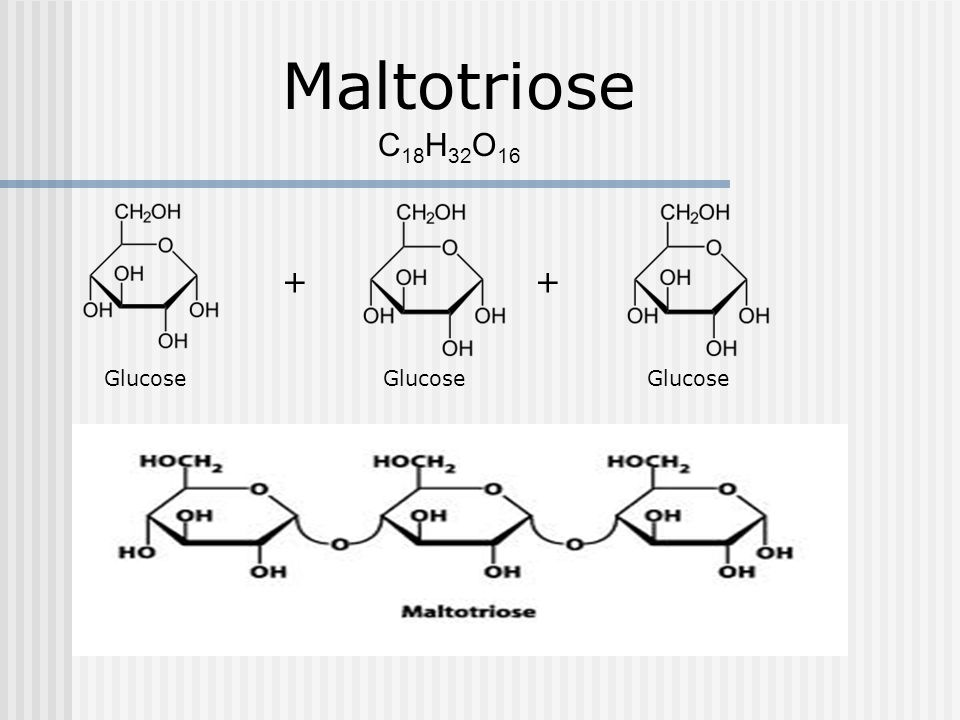 Maltotriose C18H32O16.