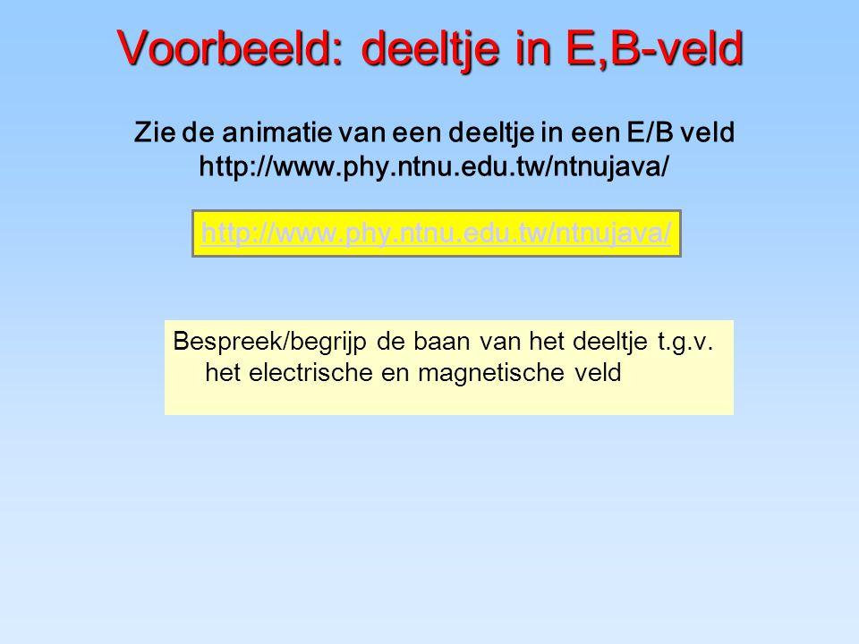Voorbeeld: deeltje in E,B-veld