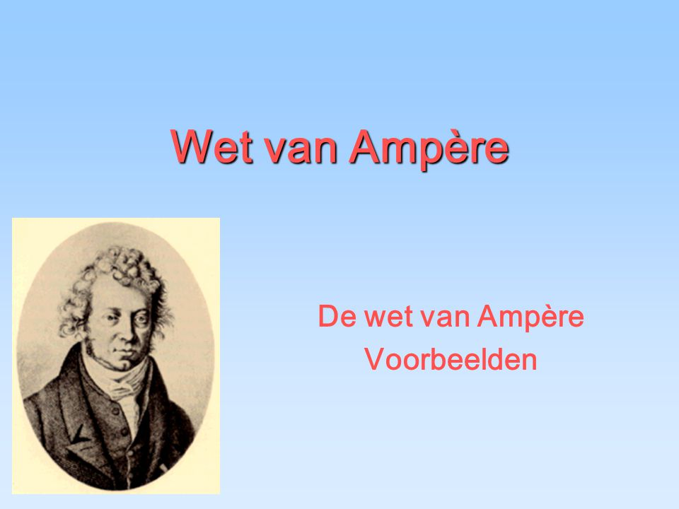 De wet van Ampère Voorbeelden