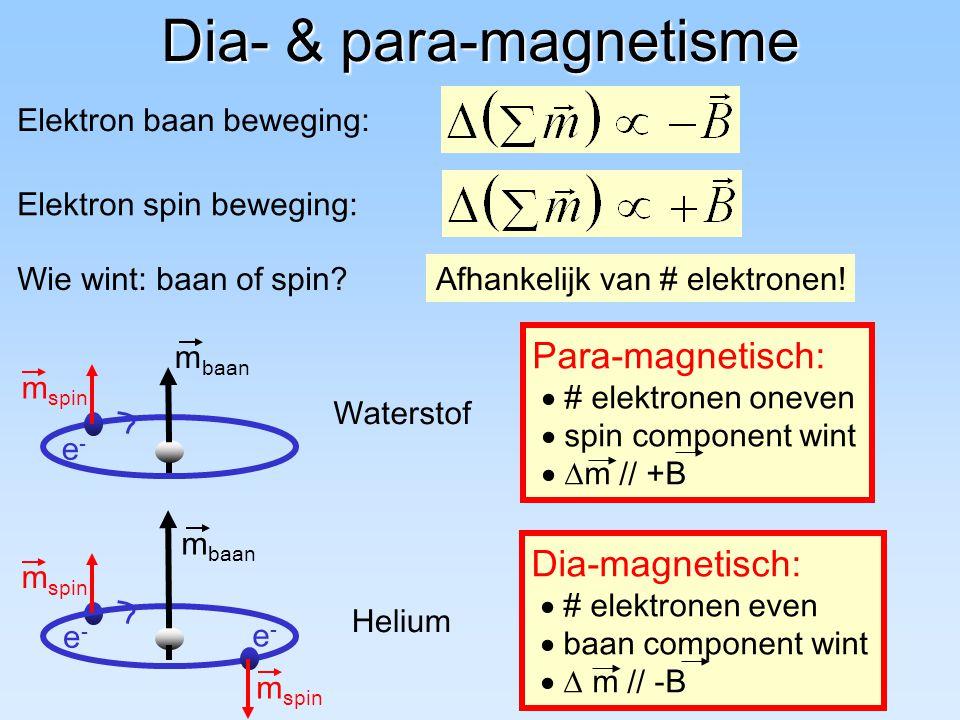 Dia- & para-magnetisme