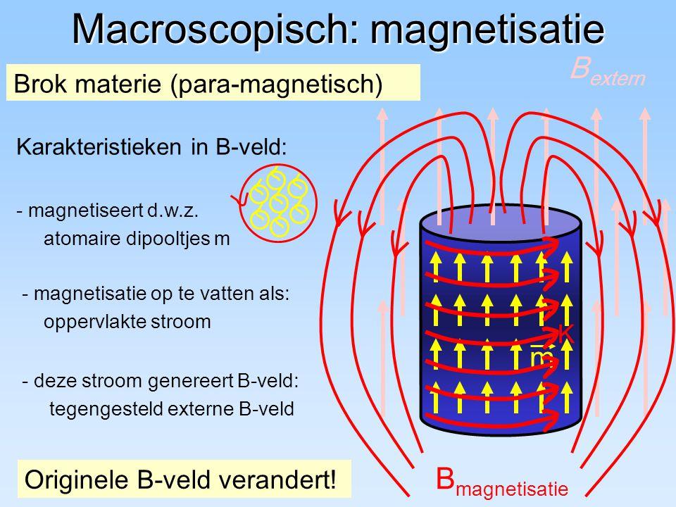 Macroscopisch: magnetisatie