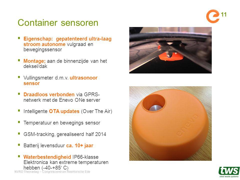 Container sensoren Eigenschap: gepatenteerd ultra-laag stroom autonome vulgraad en bewegingssensor.