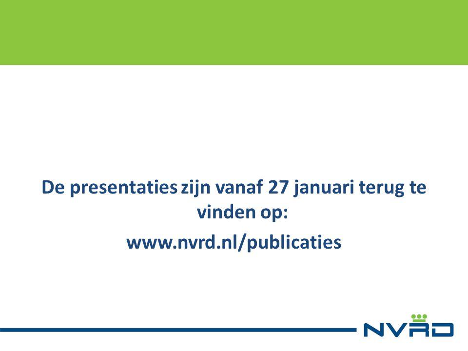 De presentaties zijn vanaf 27 januari terug te vinden op: www. nvrd