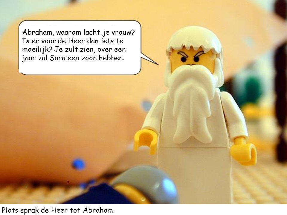 Abraham, waarom lacht je vrouw Is er voor de Heer dan iets te moeilijk Je zult zien, over een jaar zal Sara een zoon hebben.