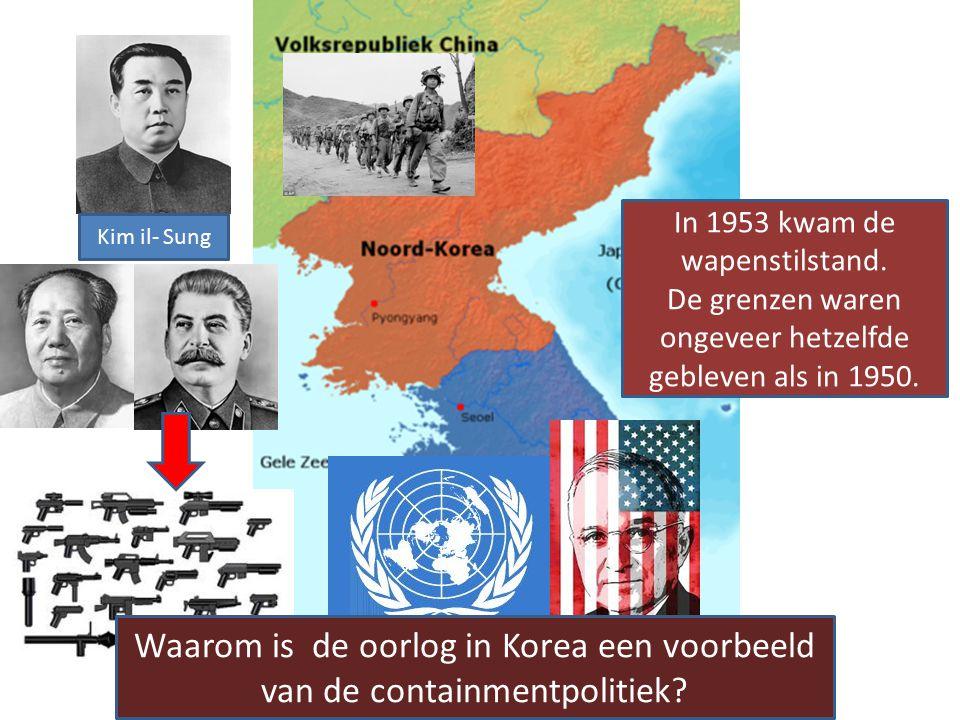 Waarom is de oorlog in Korea een voorbeeld van de containmentpolitiek