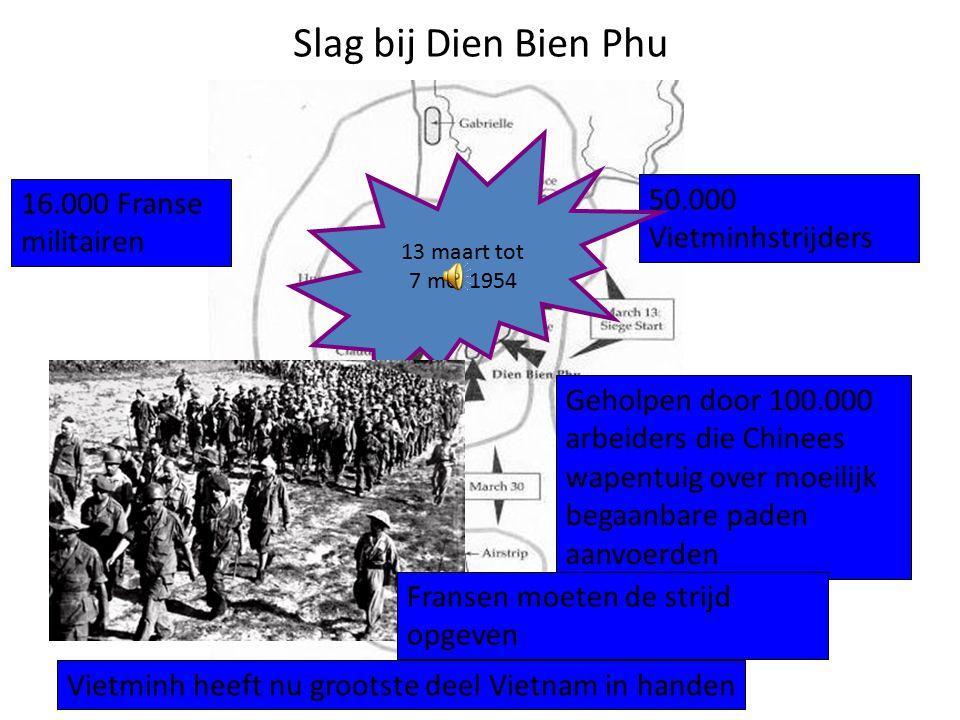 Slag bij Dien Bien Phu 50.000 Vietminhstrijders