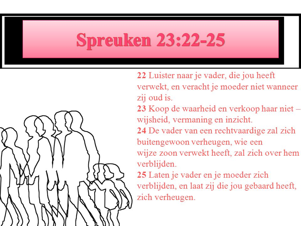 Spreuken 23:22-25
