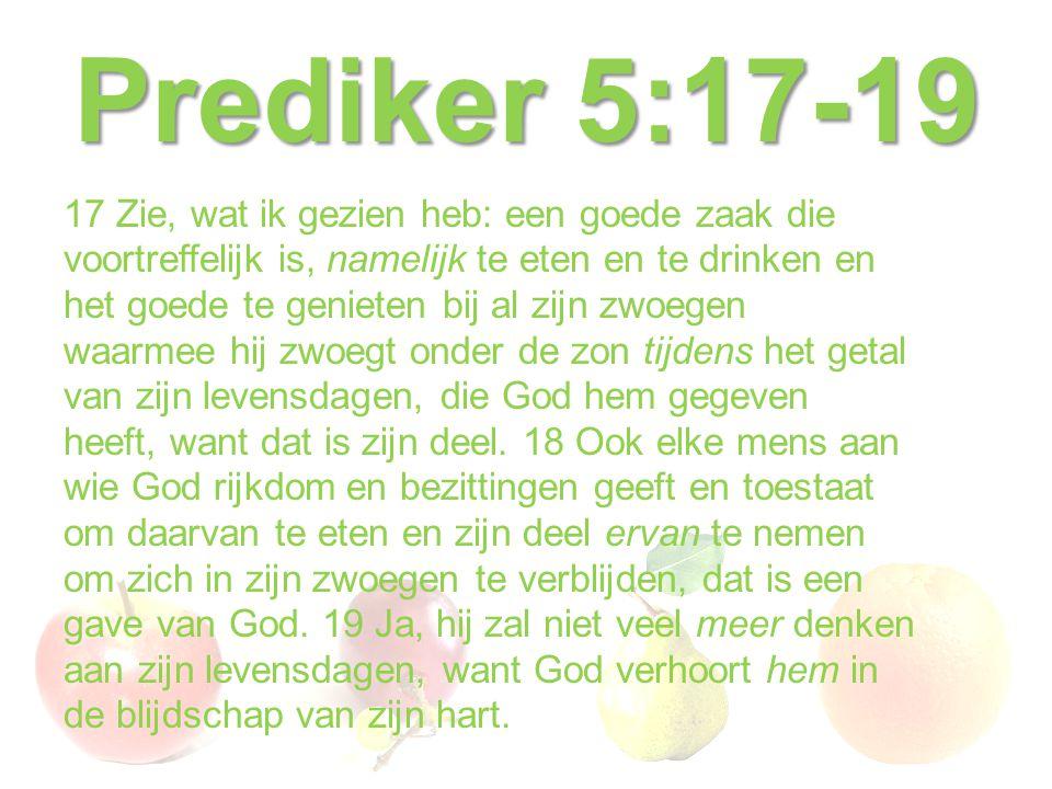 Prediker 5:17-19