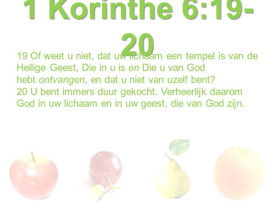 1 Korinthe 6:19-20
