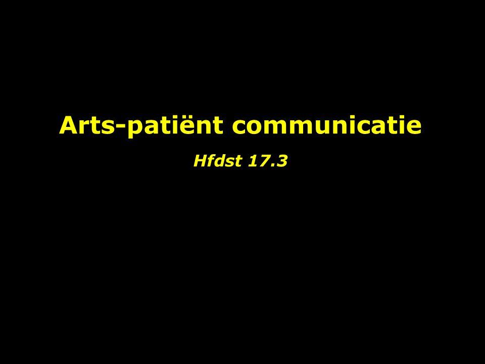 Arts-patiënt communicatie