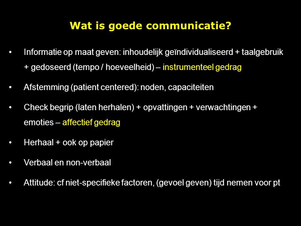 Wat is goede communicatie