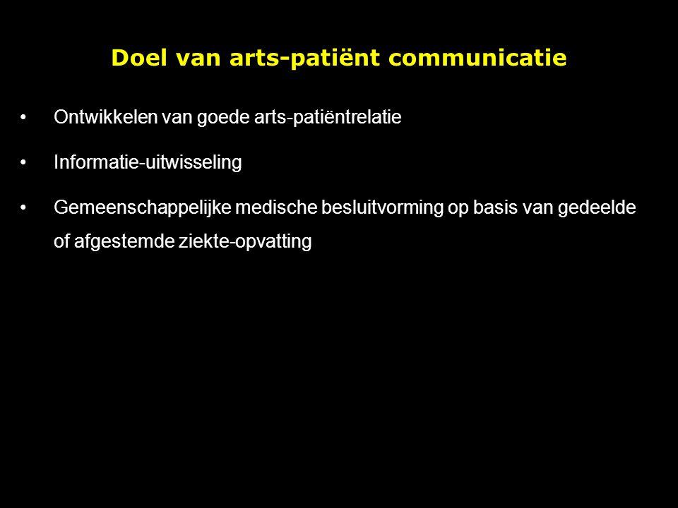Doel van arts-patiënt communicatie