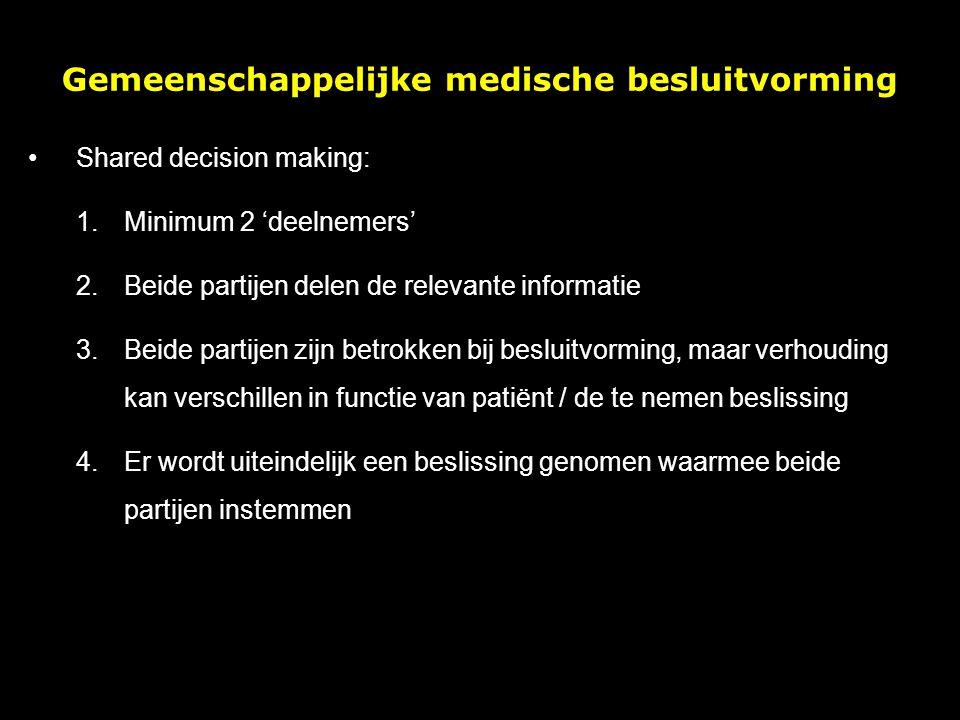 Gemeenschappelijke medische besluitvorming