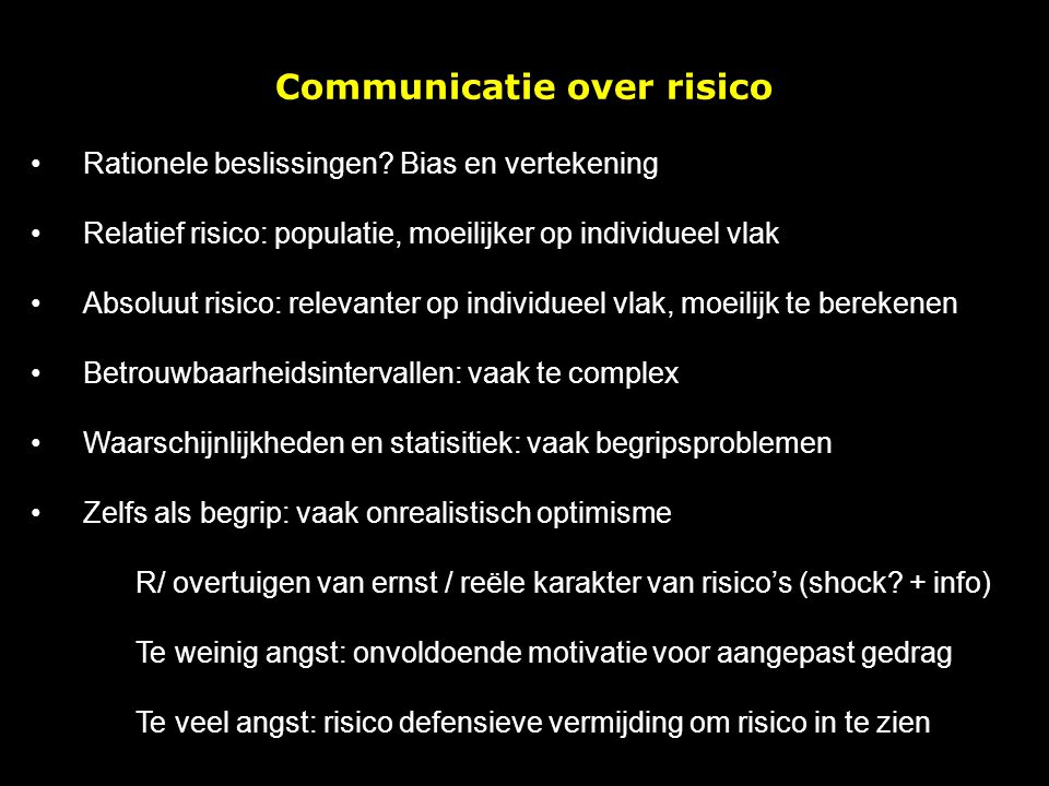 Communicatie over risico