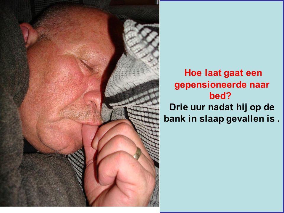 Hoe laat gaat een gepensioneerde naar bed