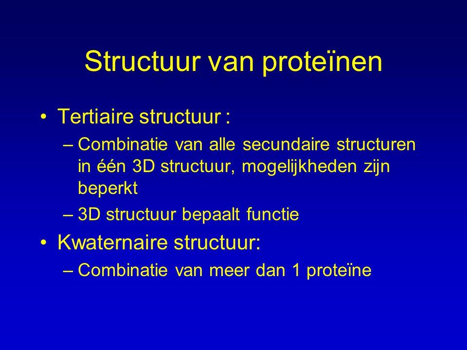 Structuur van proteïnen