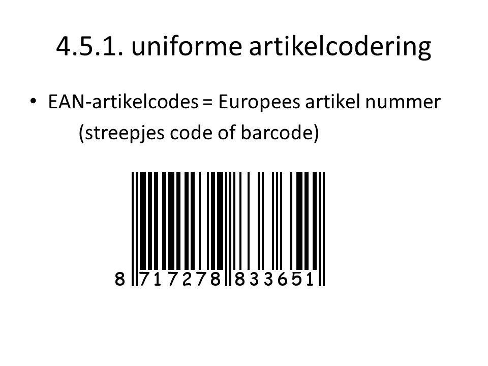 4.5.1. uniforme artikelcodering