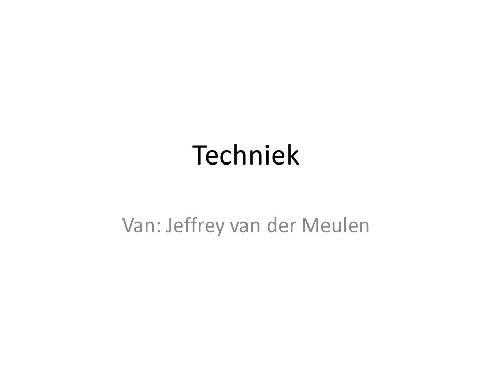 Van: Jeffrey van der Meulen