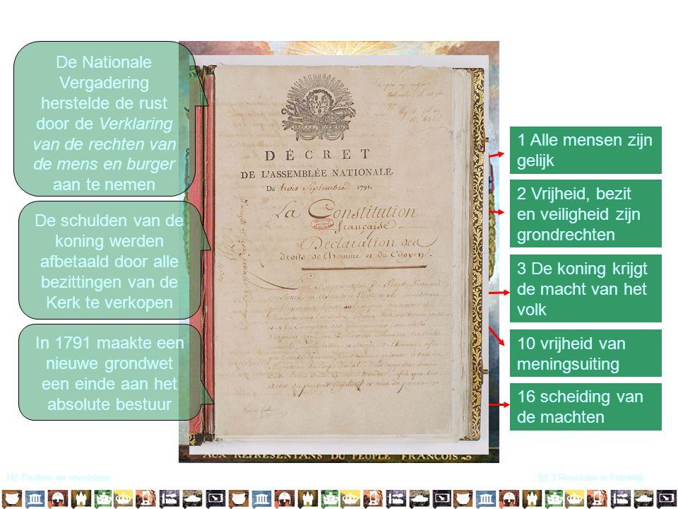 In 1791 maakte een nieuwe grondwet een einde aan het absolute bestuur