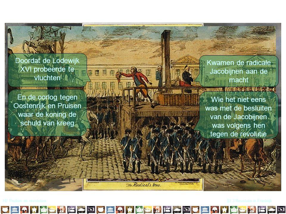 Doordat de Lodewijk XVI probeerde te vluchten