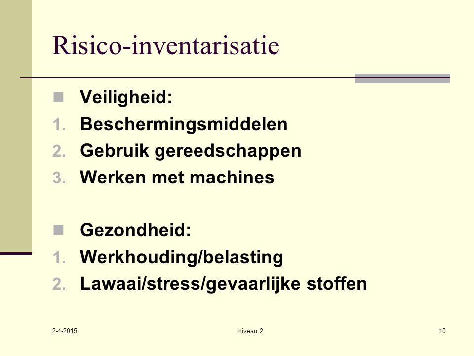 Risico-inventarisatie